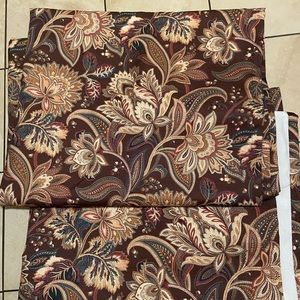 Curtains Archgate Brown Paisley Pocket r…